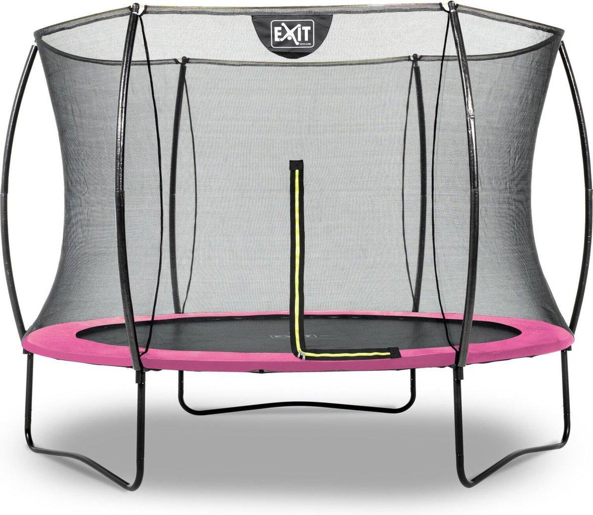 Trampoline EXIT Silhouette - ø244cm - roze