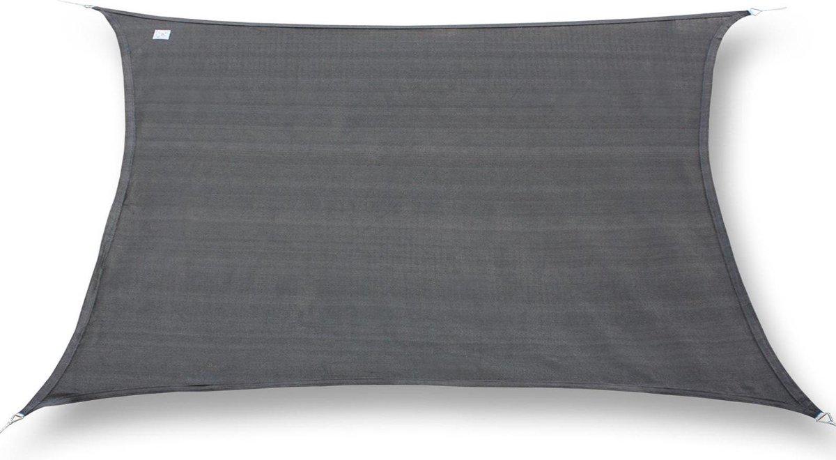 hanSe  Schaduwdoek Rechthoek Waterdicht 4x5 m - zonnedoek - Grijs