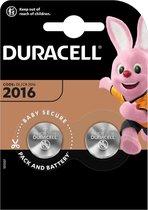 Duracell Lithium CR2016 3V - 2 stuks