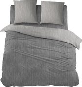 Snoozing Brigitte - Dekbedovertrek - Lits-jumeaux - 270x200/220 cm + 2 kussenslopen 60x70 cm - Antracite/Grey