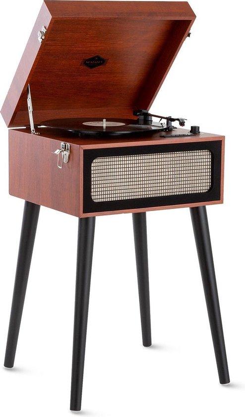 Auna Sarah Ann platenspeler - Bluetooth - USB /SD - ingebouwde stereoluidsprekers - 33,45 en 78 tpm - jaren 50 kofferdesign