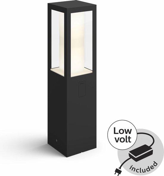 Philips Hue Impress sokkellamp - starterspakket met adapter - White and Color Ambiance - laag - 1 lichtpunt - Buiten