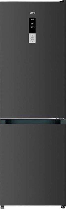 Koelkast: CHiQ FBM317NEI32 Koel-vries combinatie - 317 Liter (223 + 94) - No Frost - Donker RVS - Omkeerbare deuren, van het merk chiq