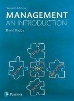 Boek cover Management van David Boddy (Paperback)
