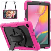 Samsung Tab A 10.1 2019 draaibare Bumper Case roze