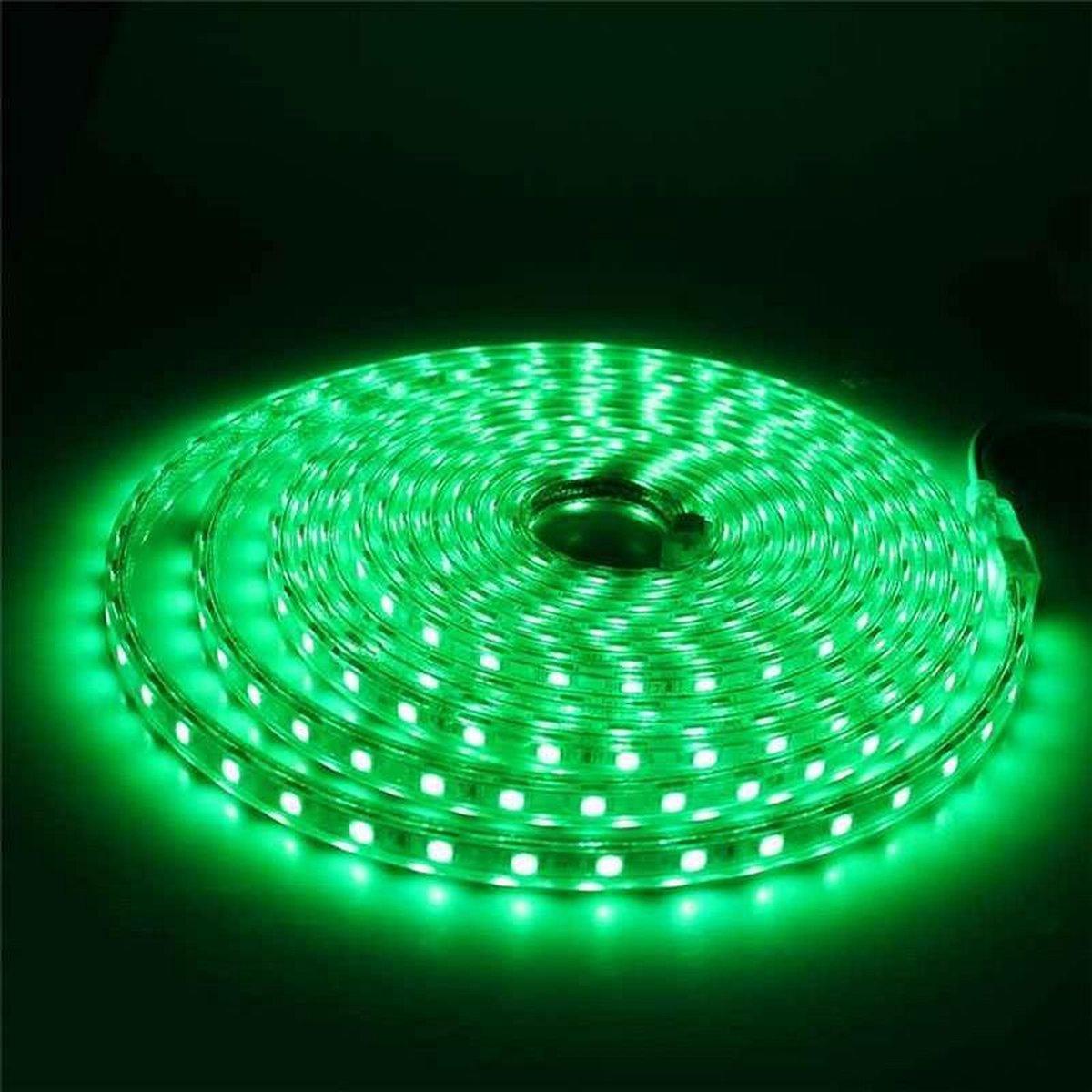 1 meter 220V LED strip, groen, IP65