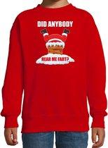 Fun Kerstsweater / Kerst trui  Did anybody hear my fart rood voor kinderen - Kerstkleding / Christmas outfit 12-13 jaar (152/164) - Kersttrui