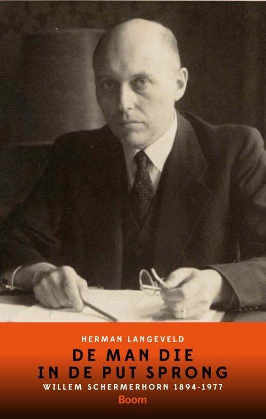 Cover van het boek 'De man die in de put sprong' van Herman Langeveld
