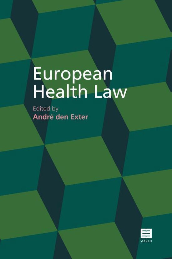 Boek cover European Health Law van  (Paperback)