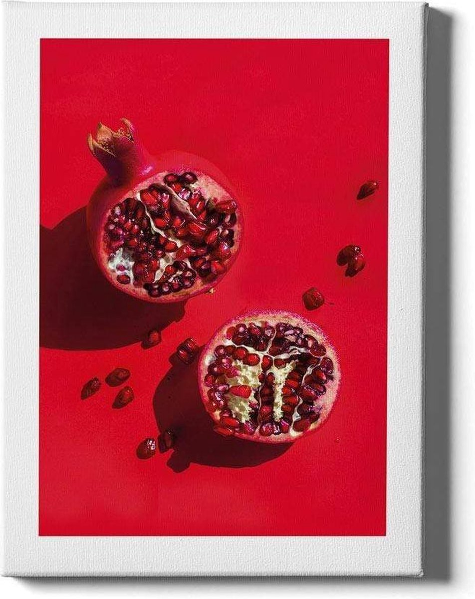 Pomegranate - Walljar - Muurdecoratie - Schilderij - Canvas