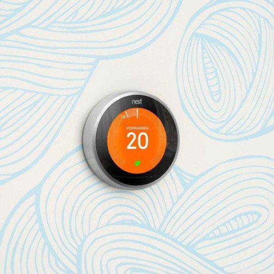 Google Nest Learning Thermostat - Slimme thermostaat - RVS