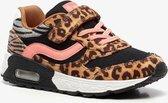 Blue Box meisjes sneakers met dierenprint - Bruin - Maat 32