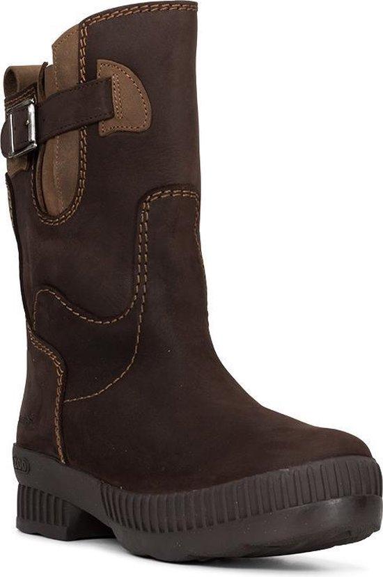 Outdoor laarzen ZOO Dames – d. Bruin – XS + XL kuit – Waterdicht – Emma 36