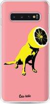 Samsung Galaxy S10 hoesje Lemon Dog Casetastic Smartphone Hoesje softcover case