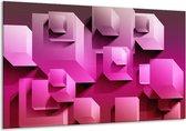 Canvas schilderij Vierkant   Paars, Wit, Roze   120x70cm 1Luik