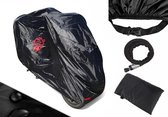 Piaggio Mp3 COVER UP HOC Motorhoes stofvrij / ademend / waterafstotend Red Label