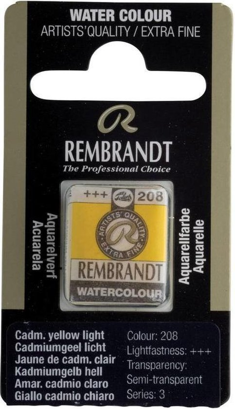 Napje waterverf rembrandt cadmium yellow light (nr. 208)