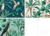 &INK Wenskaarten set - 15 stuks - Botanisch - Blanco