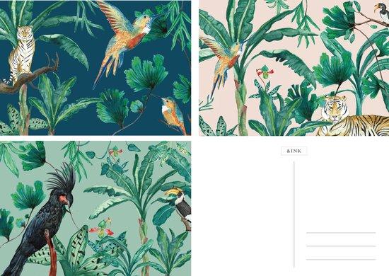 &INK Wenskaarten set 15 stuks Botanisch Blanco