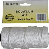 Bouwlijn wit 50 meter  x 1,8 mm - touw