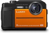Panasonic Lumix DC-FT7 Compactcamera 20,4 MP 1/2.3'' MOS 5184 x 3888 Pixels Zwart, Oranje
