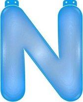 Opblaas letter N blauw