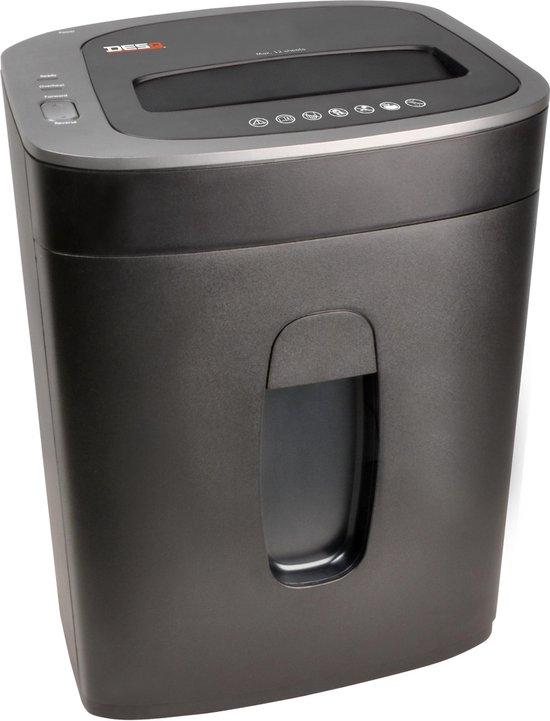 DESQ® 20065 Papiervernietiger | 12 vel | 4 x33 mm | P4 | Ook creditcards | 19 liter opvangbak | slechts 60dB