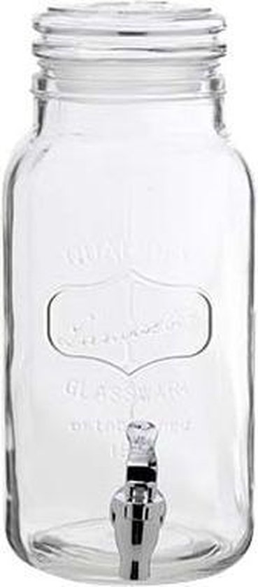 Cosy&Trendy Sapdispenser met kraan - glas - 3,75L - Cosy&Trendy