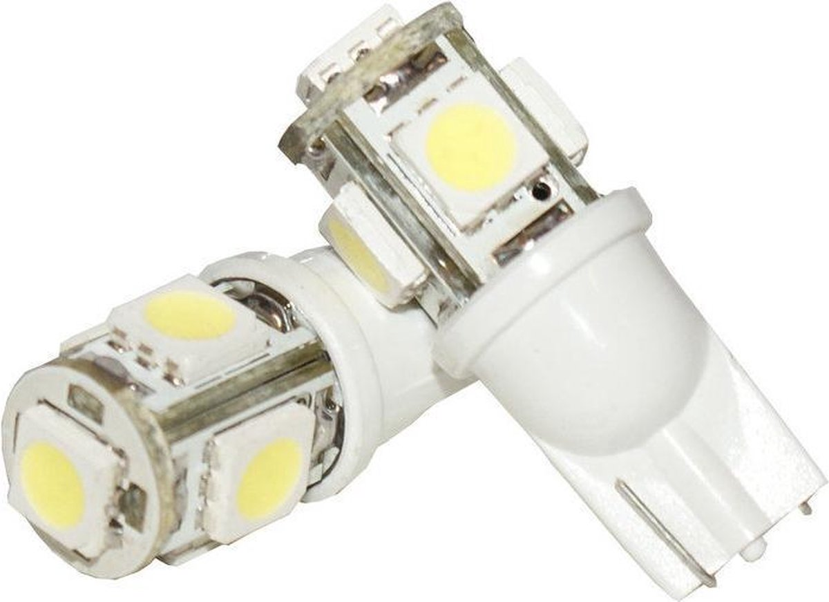 Autolampen - Led verlichting - T10 5 SMD - Wit