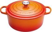 Le Creuset® - Signature - Braadpan - Stoofpan - Soeppan - Vaatwasserbestendig - Anti aanbaklaag- Geëmailleerd Gietijzer -1,8 liter - 18 cm - Oranje