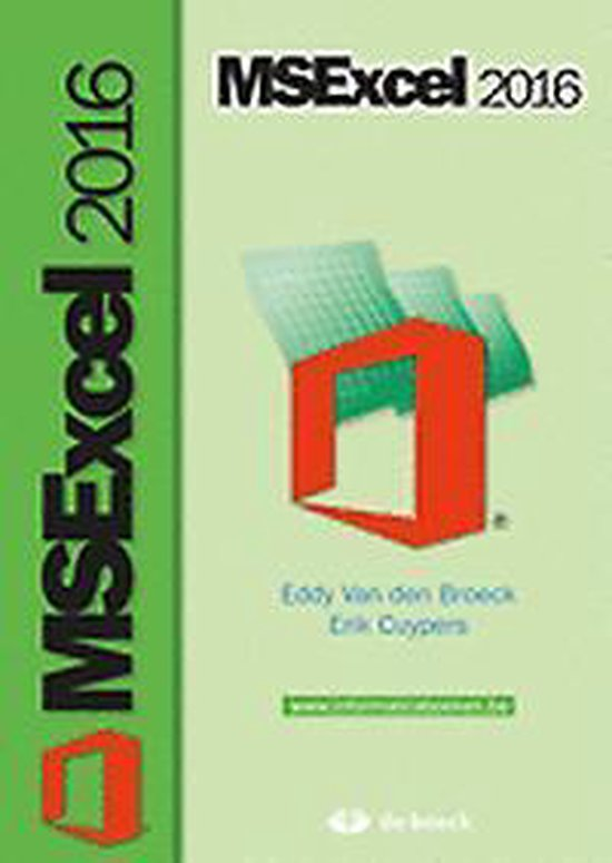 Ms Excel 2016 - Eddy Van den Broeck |