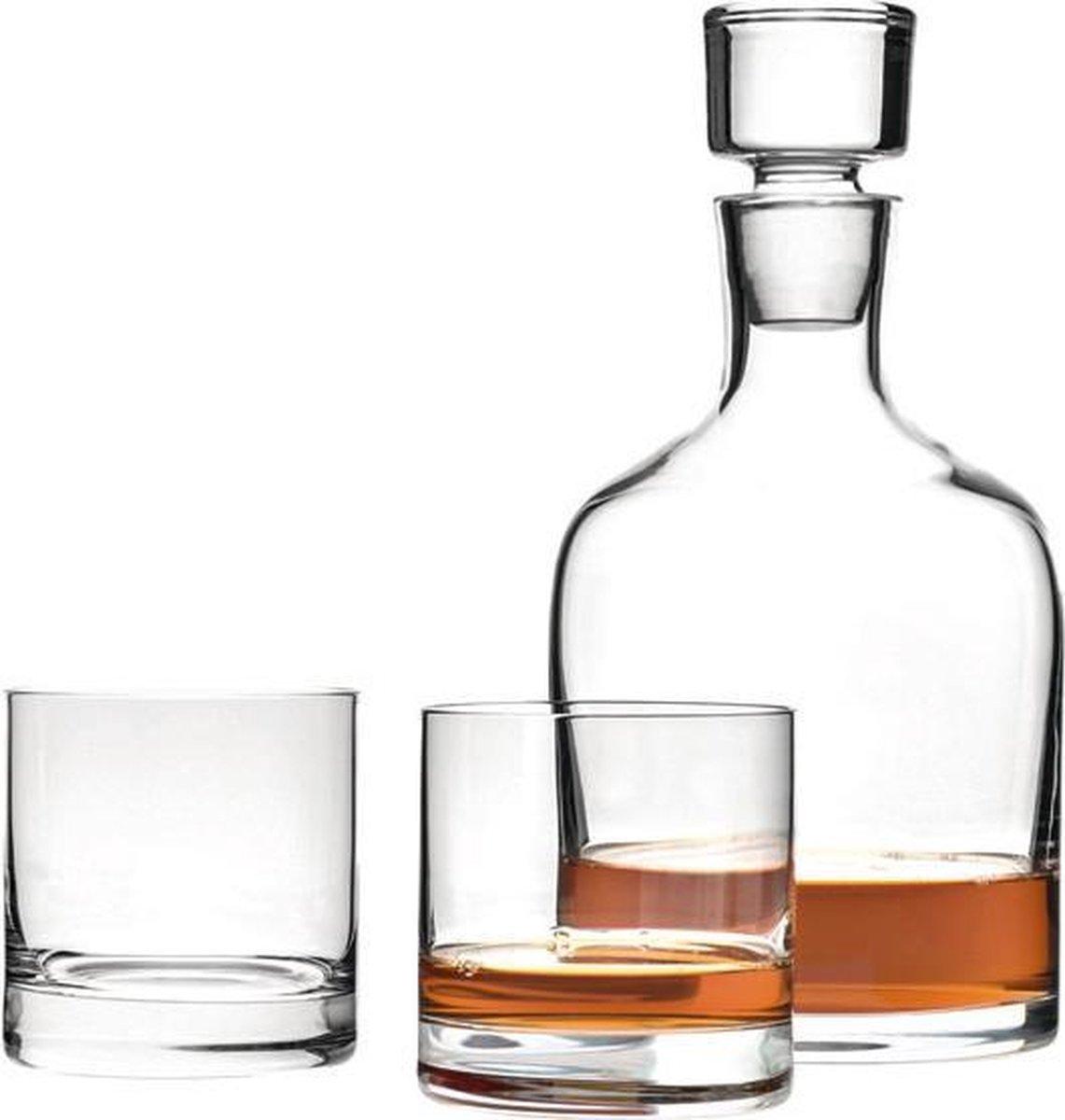 Leonardo Whiskeykaraf met 2 whiskeyglazen - Leonardo