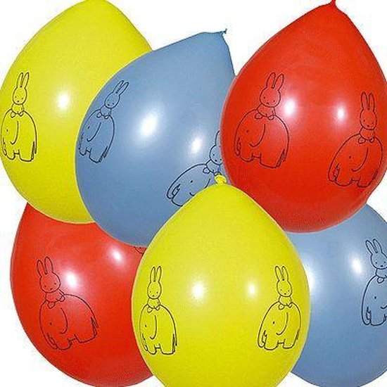 Nijntje & Miffy Balonnen - 6 stuks