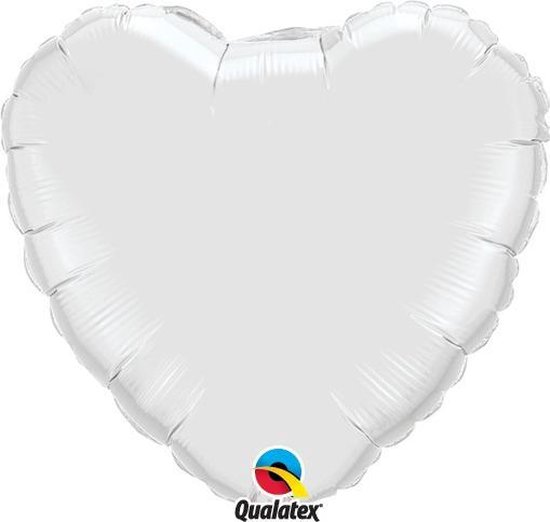 Folie ballon hart wit 45cm
