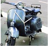 scooter - Klok - Vierkant - MDF - 30x30 cm - Paars