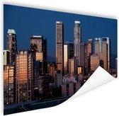 Los Angeles avond skyline Poster 180x120 cm - Foto print op Poster (wanddecoratie woonkamer / slaapkamer) / Steden Poster XXL / Groot formaat!