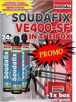 SOUDAL CHEMISCH ANKER SOUDAFIX VE400-SF (24stuks) IN THE BOX + GRATIS PISTOOL