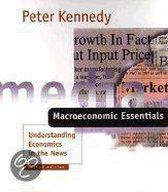Boek cover Macroeconomic Essentials van Peter E. Kennedy