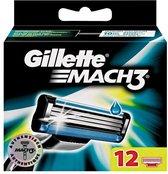 Gillette Mach 3 12stuk(s) Mannen scheermesje