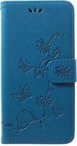 Samsung Galaxy A50 / A30s Hoesje - Bloemen Book Case - Blauw