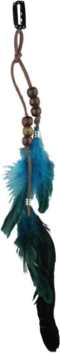 Jessidress Ibiza Style Haarclip met Veren Meisjes Haarspeld - Turquoise - Jessidress