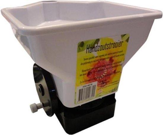 Hand strooizout strooier - strooiapparaat voor bijv. graszaad - meststoffen of kalk - graszaadstrooier