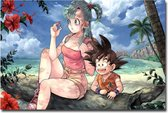 Goku & Bulma Canvas Poster