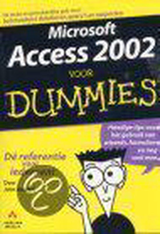 Cover van het boek 'Microsoft Access 2002 voor Dummies'