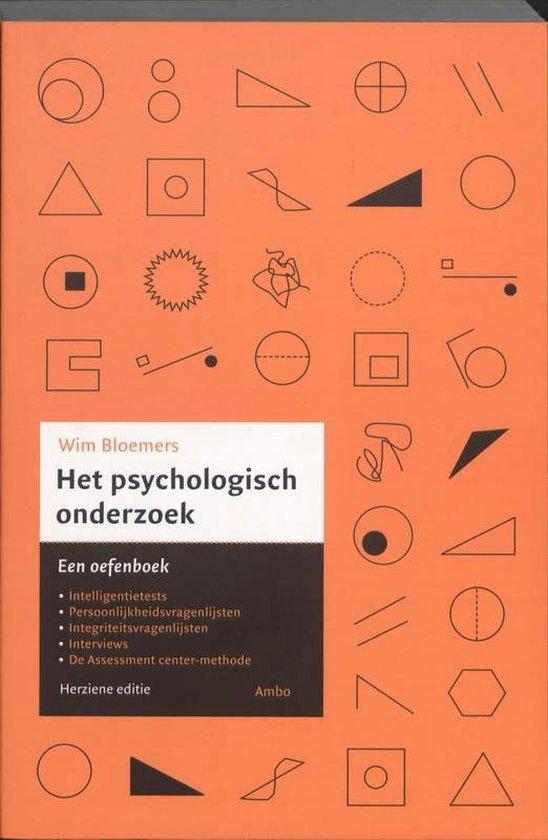 Het psychologisch onderzoek - Wim Bloemers |