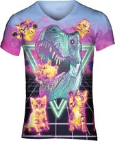 90's T-rex  festival shirt Maat: L