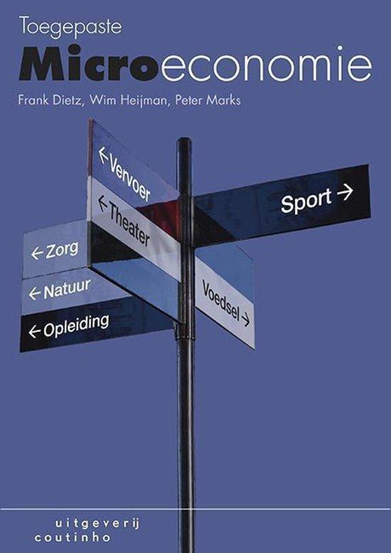 Boek cover Toegepaste micro-economie van Frank Dietz (Paperback)