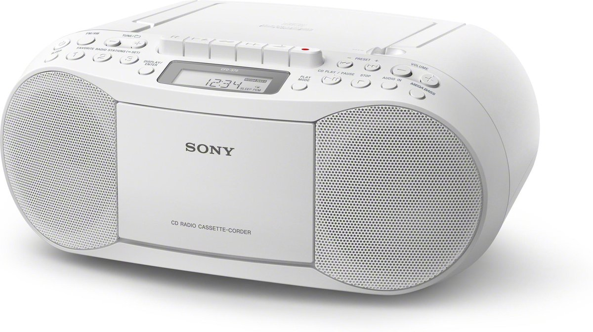 Sony CFD-S70 - Radio/cd-speler - Wit