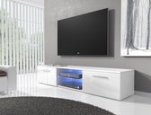 Meubella - TV-meubel Basura I LED - Wit - 160 cm