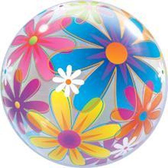 Bubbles ballon opdruk bloemen